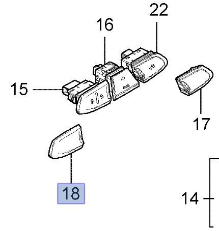 Tapa Interruptor  De Puertas Original Chevrolet Onix