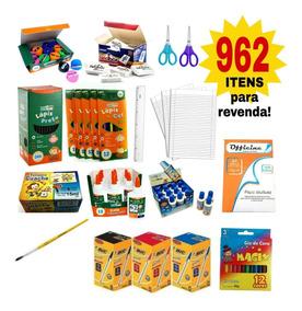 Mega Kit Material Escolar 962 Itens Atacado Revenda Barato