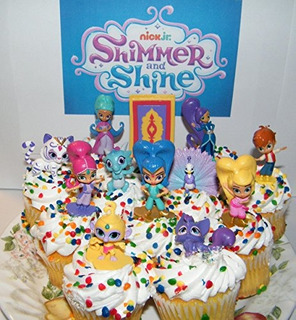 Nickelodeon Shimmer Y Brillo Deluxe Mini Torta Toppers Decor