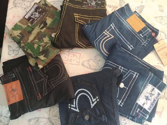 Lote D 2 Pantalon-jeans True Religion T-34 Solo Julio