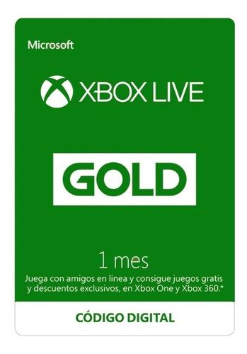 Imagen 1 de 1 de Membresia Xbox Live 1 Mes Gold Zugars Game