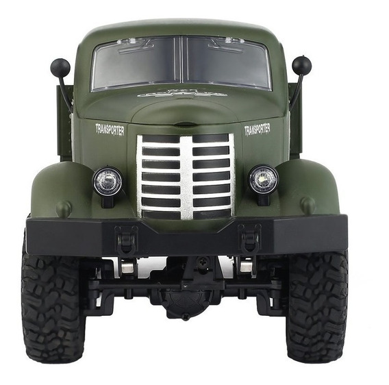Caminhão Militar Controle Remoto 6x6 Jjrc Rc 1:16 6wd Q60