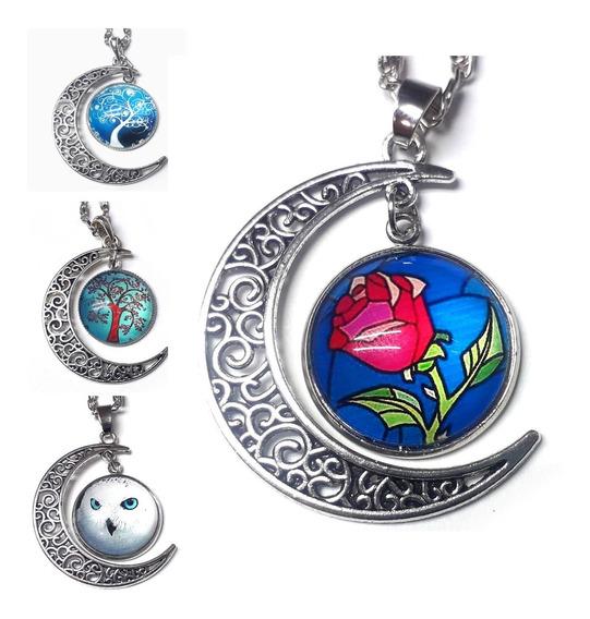 Collar Luna Muchos Diseños Vintage Moda Bisuteria Regalo