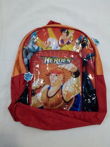 Mochila Disney Heroes Varios Modelos 1 Cierre, 1 Bolsillo