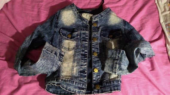 Campera Jean Con Aplique Bordado T Small