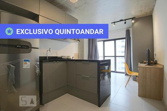 Studio No 7º Andar Mobiliado Com 1 Dormitório - Id: 892970899 - 270899