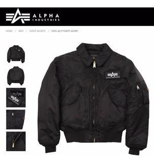 Campera Alpha Industries Cw 45p Aviadora Original