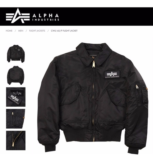 Campera Alpha Industries Cw 45p Aviadora Original