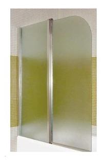 Mampara De Baño Sobre Bañera 1.20 X 1.40 Vidrio Esfumado Cr
