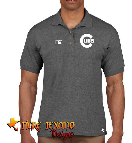 Playera Polo Cubs Chicago Baseball By Tigre Texano Designs