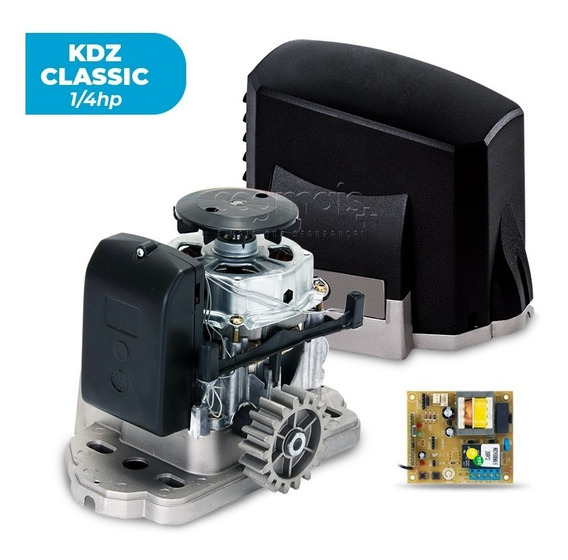 Motor Portão Eletrônico Deslizante Kdz 1/4hp Garen Sc