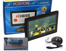Gps Automotivo Foston 4,3 Pol 473 Tv, Câmera Ré Frete Gratis