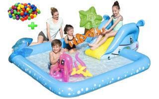 Pileta Pelotero Inflable Spray Play Center Bestway + Pelotas