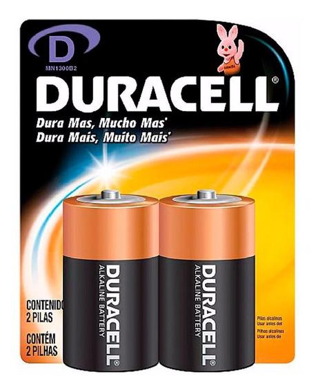 Duracell Duralock Pilha Alcalina Grande Tamanho D Com 2