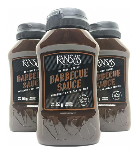 Pack 5u Salsa Barbacoa Bbq Kansas X 465 Gr Exquisita!