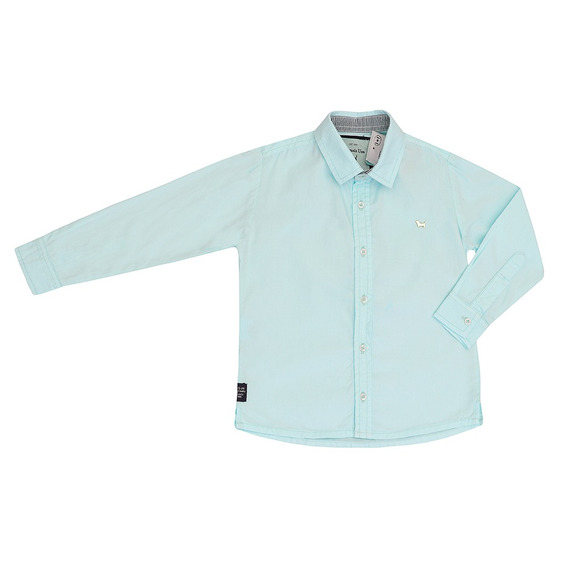 Camisa Infantil Masculino Manga Longa Azul