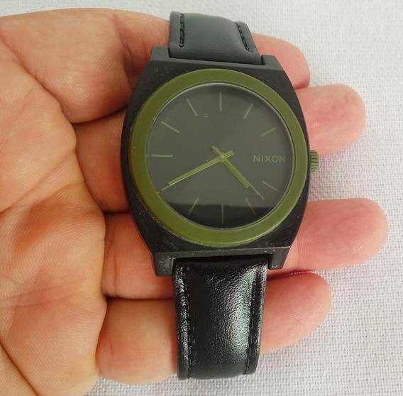 Relógio Nixon Minimal Time Teller Original Verde Musgo Usado