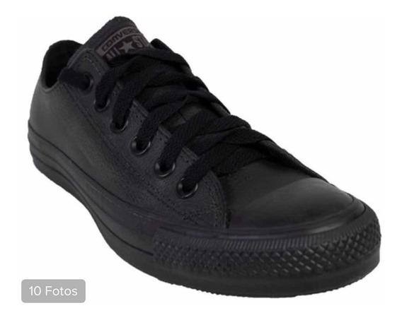 Zapatillas Converse Black Monocrhome Cuero