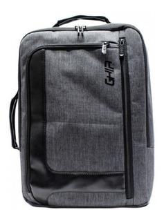 Backpack / Maletin 2 En 1 Ghia 15.6 Gris/negra By Tecnowow