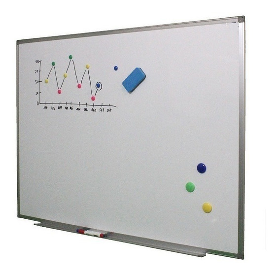 Quadro Branco Magnético Aluminío 120 X 250cm