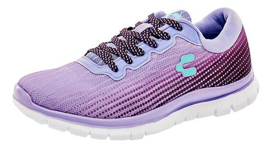Charly Tenis Casual Sint Mujer Lila Textura C37009 Udt