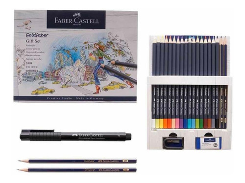 Faber Castell Colores Set De Dibujo Con 23 Piezas Arte