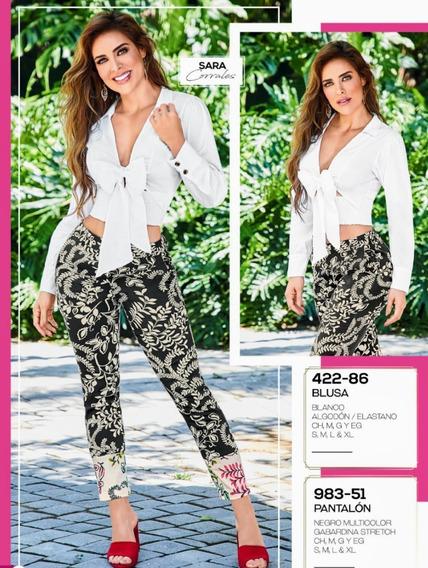 Pantalón Negro Multicolor 983-51 Cklass Primaver-verano 2020