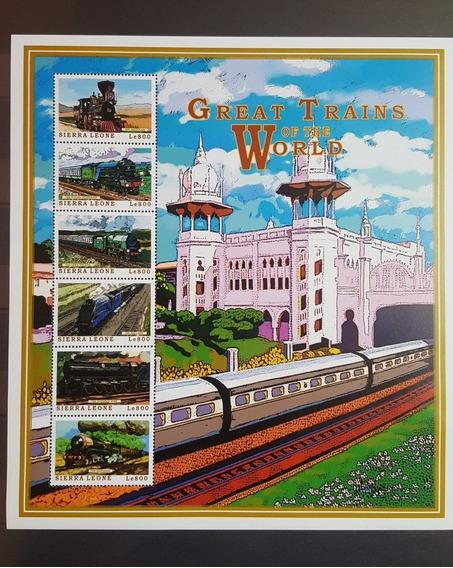 1999 Transportes - Trenes - Sierra Leona Mnh