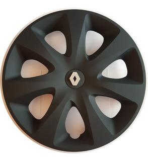 Juego 4 Tazas De Rueda Renault Clio Mio D/13 Rodado 13 Negra