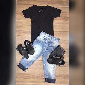 Camiseta Basica Calça Jeans Clara Tenis Old Prince