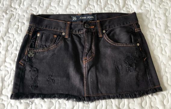 Mini Saia Black Jeans John John