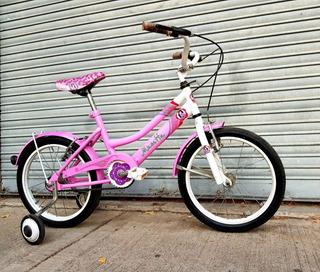 Bicicleta Niños Niñas Rodado 16 Musetta Rosa Excelente.