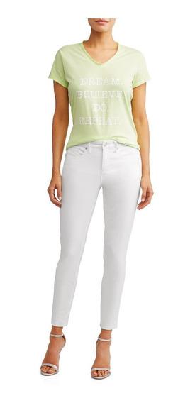 Jeans Mezclilla Dama Talla 14 Sofia Vergara Ankle Skinny Str