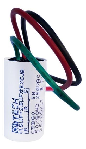 Capacitor 1,5 + 2,5uf Para Ventilador De Teto 3 Fios