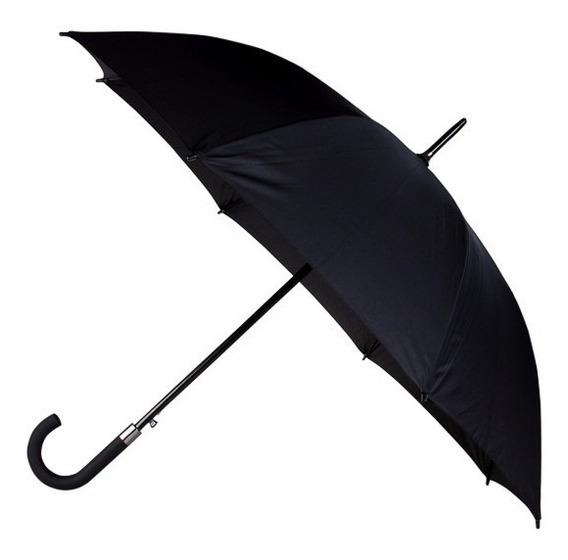 Paraguas Largo Pierre Cardin Negro Elegante Y Resistente