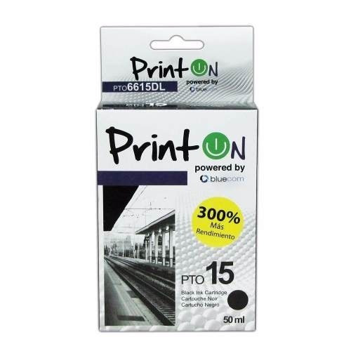 Cartucho Printon N°15, Para Uso De Impresoras Hp