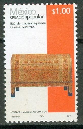 Sc 2489 Año 2011 Creacion Popular Baul De Madra Laqueada 1 P