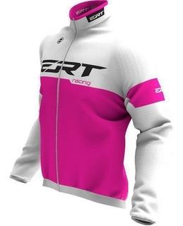 Corta Vento Ert Racing Rosa Ciclismo Capa Chuva Impermeável