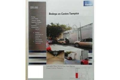 Bodega En El Centro De Tampico... 400 Mts De Construccion