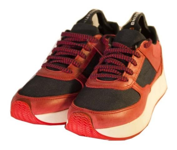 Zapatillas Rojas 0028 Mujer Urbanas Nuevos Oferta!!!