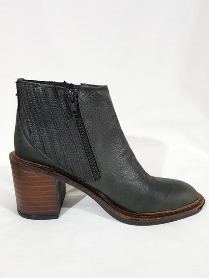 Botas De Cuero Mujer Zapato Cortas Brujas & Santas