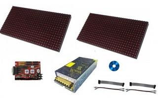 Kit Letrero Led Rojo 4 Paneles 16x32 P12.5 Rs232 Rs485
