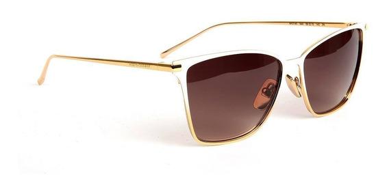 Oculos Solar Ana Hickmann Ah3145 04a Titanio Dourado Branco