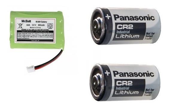 Kit 02 Pilhas Panasonic Cr-2 + 01 3,6v Aaa 900mah P/ Baba