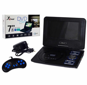 Dvd Portátil Tela 7 Lcd Tv Jogos Mp3 Usb Sd 180 Graus-d115
