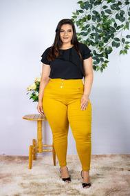 Conjunto Feminino Plus Size Blusa + Calça Roupas Femininas
