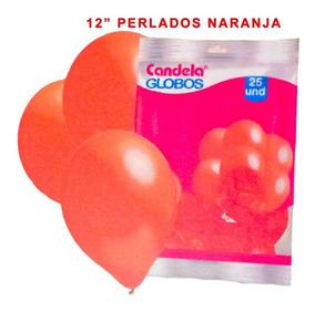 25 Globos Perlados 12pulgadas Naranjas - Hoy La Golosineria