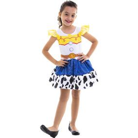 Fantasia Jessie Infantil Pop Toy Story Cow Girl + Brinde