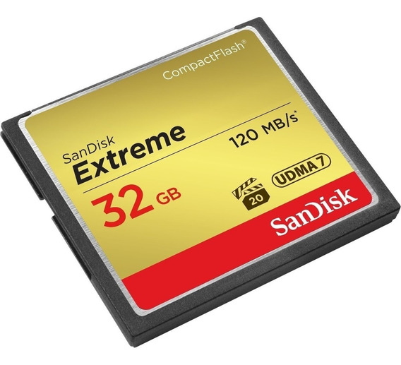 Cartão Memória 32gb Compact Flash Sandisk Cf Extreme 120mb/s