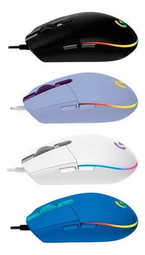 Mouse Logitech G203 Lightsync Para Gaming Iluminación Rgb Pc